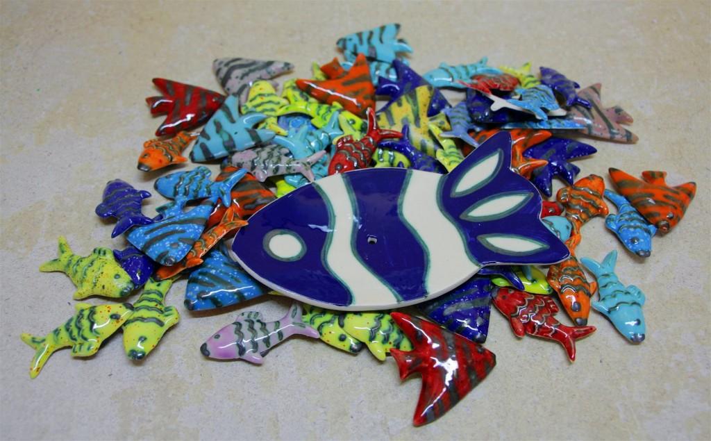 milnik in magnetki ribice